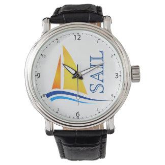 Nautical Sail Modern Wrist Watch
