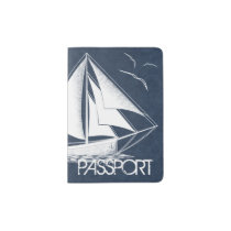 Nautical Sail travel Passport Holder