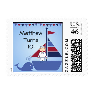 Nautical Sailboard Postage Stamps