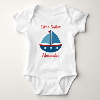 Nautical sailboat baby bodysuit for little sailor