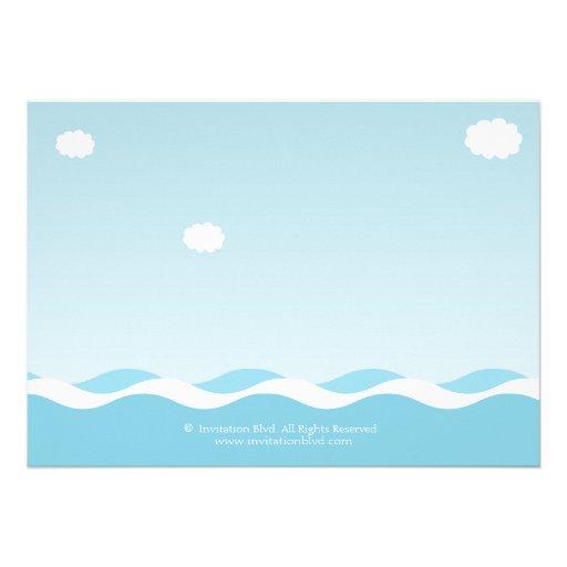 Nautical Sailboat Baby Boy Baby Shower Invitation (back side)