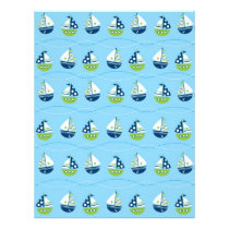 Nautical Sailboat Baby Scrapbook Paper