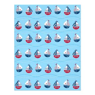 Nautical Sailboat Baby Scrapbook Paper
