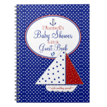 Nautical Sailboat Baby Shower Guest Book /