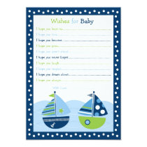 Nautical Sailboat Boat Wishes for Baby Card