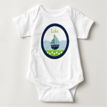 Nautical Sailboat Boys Baby T-Shirt