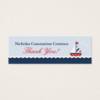 Nautical Sailboat Crab Anchors Gift Tag