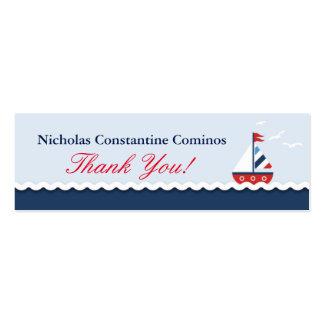 Nautical Sailboat Crab Anchors Gift Tag Mini Business Card
