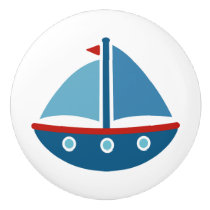 Nautical sailboat door and drawer pull knobs