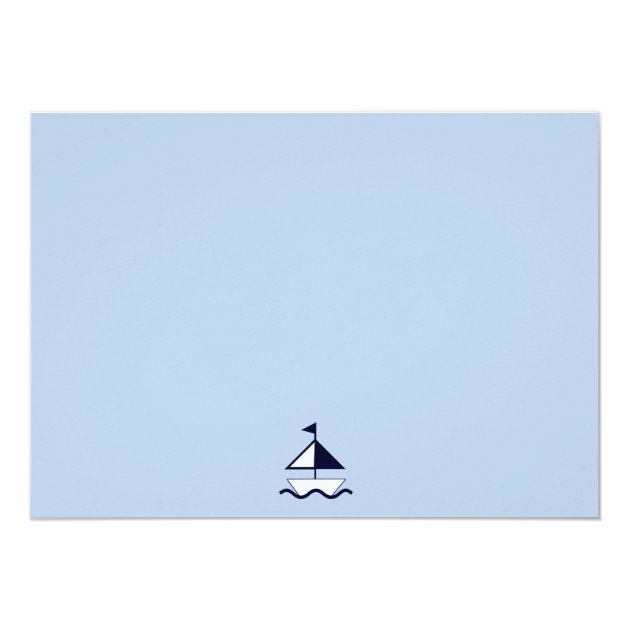 nautical/sailboat/navy baby shower thank you card   zazzle, Baby shower invitations