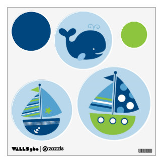 Nautical Sailboat Nursery Wall Stickers Decals