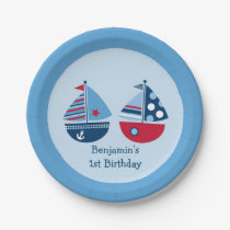 Nautical Sailboat Paper Plates