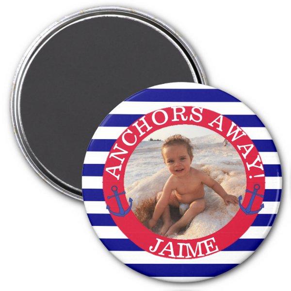 Nautical Sailboat Personalized Photo Magnet