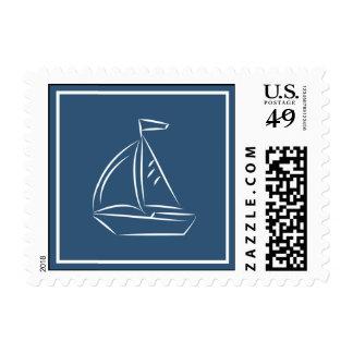 Nautical Sailboat Stamp