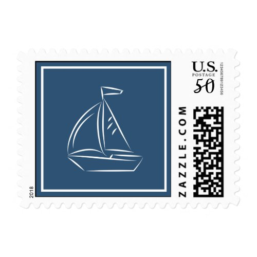 Nautical Sailboat Stamp
