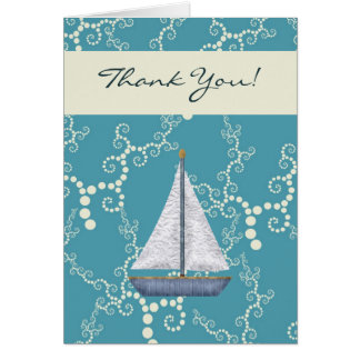 Nautical Sailboat Thank You Cards