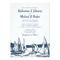 Nautical Sailboat Wedding Invitation