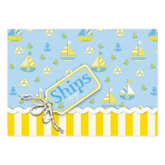 Nautical Sailboats Baby Shower Invitations Large Business Card