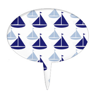 Nautical Sailboats Cake Topper
