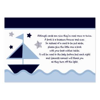 Nautical Sailboats Navy  Favor/Tags Business Card Template