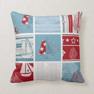 Nautical Sailing Boat Pillow