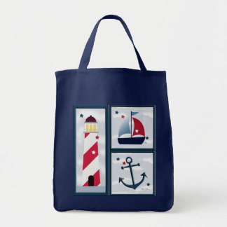 Nautical Sailing Cute Design Tote Bag