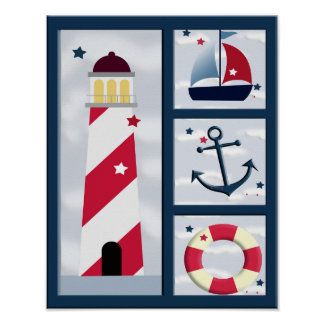 Nautical Sailing Design Poster