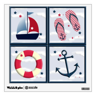 Nautical Sailing Design Wall Decal