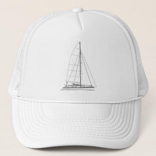 Nautical Sailing inspired Outremer Catamaran Trucker Hat