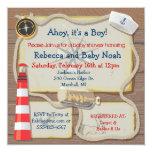 Nautical Sailor Baby Shower Invitations