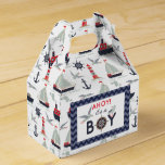 Nautical Sailor Boats Ahoy Baby Boy Shower Party Favor Box