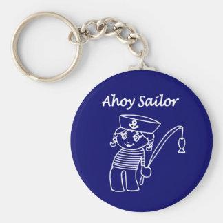 Nautical Sailor Girl Keychain