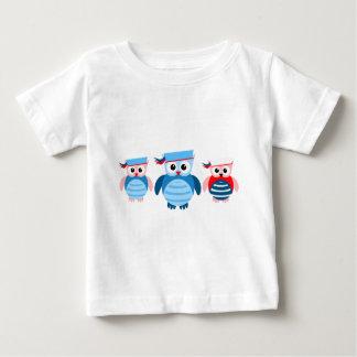 Nautical Sailor Owls Baby T-Shirt