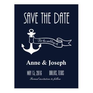 Nautical Save the Date III Postcard