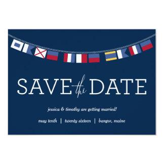 Nautical Save the Date 5x7 Paper Invitation Card