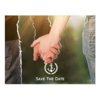 Nautical Save The Date Photo Post Cards