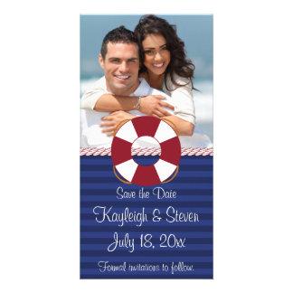 Nautical Save the Date Customized Photo Card