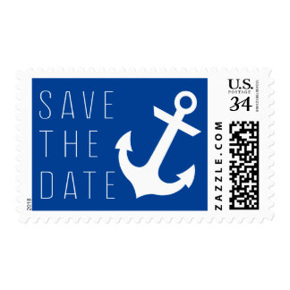 Nautical Save The Date Postage