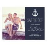 "Nautical Save The Date | Wedding 4.25"" X 5.5"" Invitation Card"