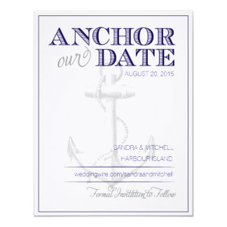 Nautical Save the Dates Card