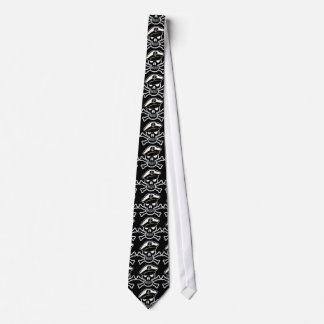 Nautical Scull and Crossbones Tiled Necktie
