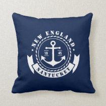 Nautical, Sea, Anchor, Label, Throw Pillow