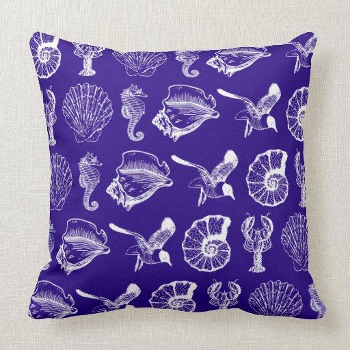Ocean Animal Pillows : Nautical Sea Animals Pillow Zazzle