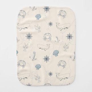 Nautical Sea Baby Burp Cloth