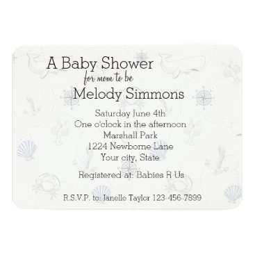 Beach Themed Nautical Sea Baby Shower Card