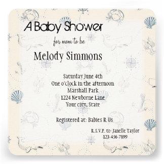 Nautical Sea Baby Shower Custom Invitations