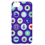 Nautical Sea Blue Sailor Pattern iPhone 5C Covers