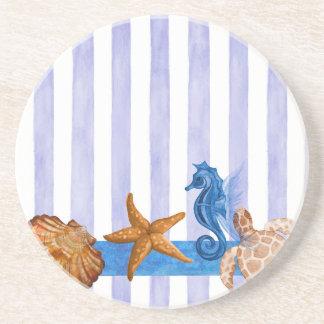 Nautical Sea Creatures Drink Coaster