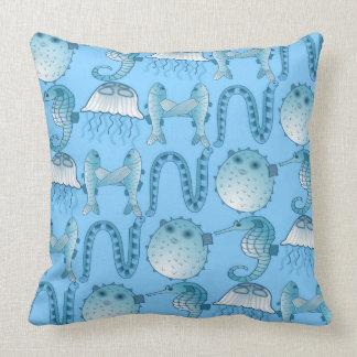 Nautical Sea Creatures Pillow