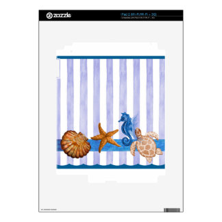 Nautical Sea Creatures Skins For iPad 2